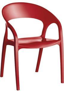 Cadeira Glass Plus Kappesberg Uz4004 Vermelho