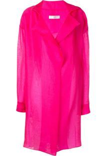 The 2Nd Skin Co. Trench Coat De Organza - Rosa
