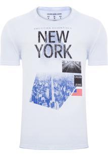 Camiseta Masculina American Essentials - Azul