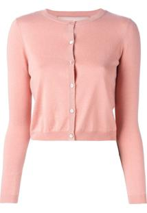 Red Valentino Cardigan Cropped - Rosa