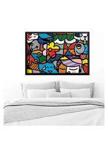 Quadro Love Decor Com Moldura Britto Garden Preto Grande