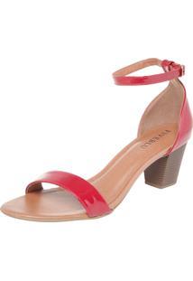 Sandália Fiveblu Verniz Vermelha