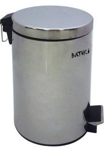 Lixeira Em Aço Inox Polido 12 Litros Com Pedal Batiki W180-Lb-604L