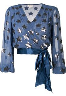 Temperley London Blusa Starlet - Azul