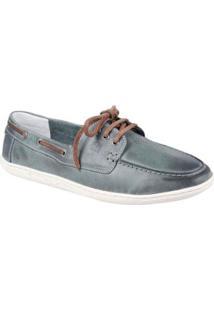 Sapato Masculino Dockside Sandro & Co York Boat - Masculino-Cinza