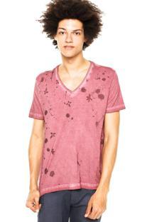 Camiseta Forum Gola Vinho