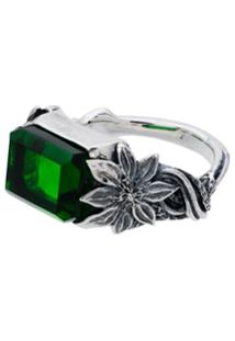 Lyly Erlandsson Green And Silver Orsay Ring