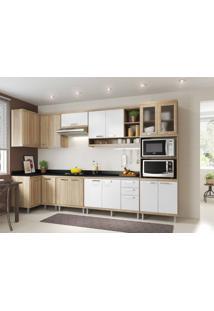 Cozinha Compacta Multimóveis Sicília 5831.132.815.131.610 Argila Branco Se