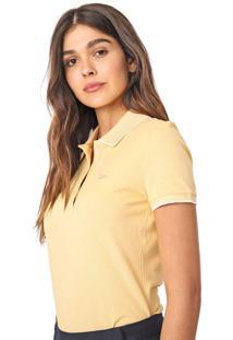 Camisa Polo Lacoste Logo Amarela