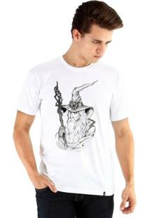 Camiseta Ouroboros Manga Curta Dream Magician - Masculino-Branco