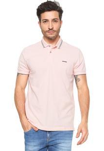 Camisa Polo Sommer Reta Listras Rosa