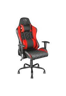 Cadeira Gamer Trust Gxt707 Resto, Encosto E Braços Reguláveis, Com Almofadas, Vermelho - 22692