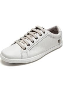 Sapatênis Couro Cavalera Basic Color Off-White