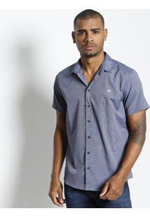 Camisa Maquinetada - Azul & Brancatriton