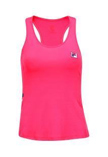 4c12bab49e ... Camiseta Regata Com Proteção Solar Uv Fila Band - Feminina - Rosa Escuro