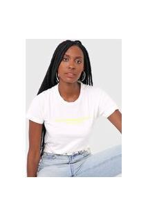 Camiseta Ellus Jet Set Shine Off-White