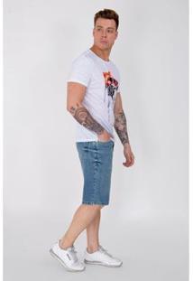 Bermuda Jeans Equivoco Masculina - Masculino-Azul