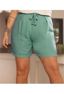 Shorts Feminino Plus Size Secret Verde - Verde - Feminino - Dafiti