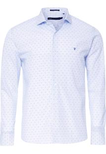 Camisa Masculina Office Slim Fit - Azul