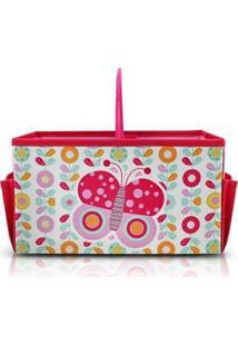 Caixa Organizadora Infantil Com Alça Jacki Design Feminina - Feminino-Rosa