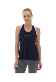... Camiseta Regata Com Proteção Solar Uv Mizuno Liberty - Feminina - Azul  Escuro 92654159092