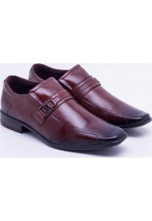 Sapato Social Couro Pegada Fivela Pinhão Masculino - Masculino