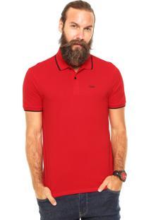 Camisa Polo Calvin Klein Jeans Reta Vermelha