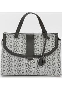 Bolsa Transversal Com Aviamento & Bag Charm - Cinza Clarguess