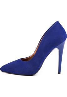 Scarpin Di Scarp Calçados Salto Alto (11 Cm) - Nobuk Azul - Kanui