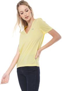Camiseta Lacoste Logo Amarela