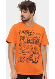 Camiseta Coca-Cola Aroma Masculina - Masculino-Laranja