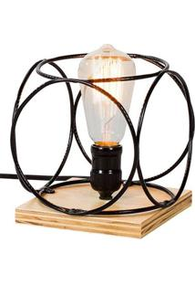 Luminaria Palas Estrutura Em Ferro Redondo Cor Preto 0,14 Cm (Alt) - 54086 - Sun House