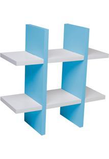 Nicho Jogo Da Velha 38Cm Branco E Azul