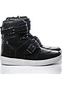 Tênis Sneaker Rock Fit Cano Alto Couro - Feminino