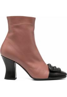 Roberto Festa Ankle Boot Boras Color Block - Marrom