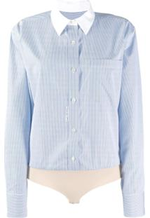 Alexander Wang Micro Stripe Shirt Body - Azul