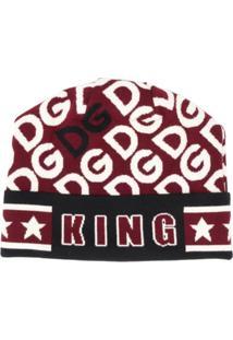 Dolce & Gabbana Gorro Com Estampa King - Branco