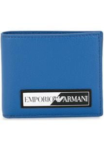 Emporio Armani Carteira Dobrável Com Patch De Logo - Azul