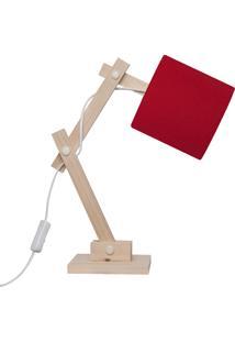 Luminária Carambola Articulada Vermelha