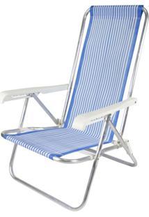 Cadeira De Praia Alta Em Aluminio Multicolorido Belfix