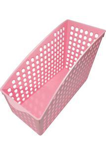Cesta Thata Esportes Organizadora Multiuso Porta Treco Armário Geladeira Despensa Rosa - Kanui