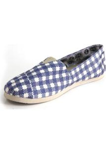 Alpargata Old Is Cool Shoes Inbox Feminina - Feminino-Azul+Branco