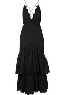 Acler Vestido Lacruise - Preto