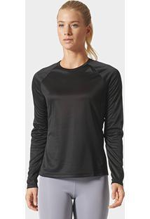 Camiseta Adidas D2M Manga Longa Feminina - Feminino