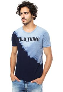 Camiseta Colcci Tie-Dye Azul