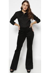 Camisa Lisa - Preta- M. Officerm. Officer