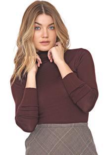 Blusa Calvin Klein Tricot Lisa Bordô