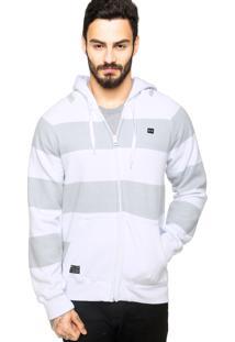 Jaqueta Oakley Essential Stripes Branca/Cinza