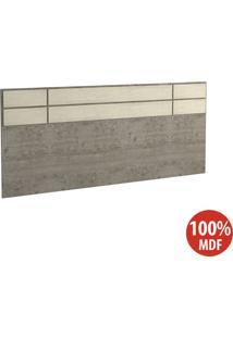 Cabeceira Casal 100% Mdf 2298 Demolição/Marfim Areia - Foscarini