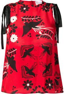Red Valentino Blusa Com Estampa Terrace - Vermelho